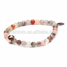 Hot Sale! Flashing rutile bracelet with beads