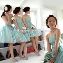 SJ16661 mint green knee length tulle cheap low price under 80usd short 2015 Bridesmaid dress