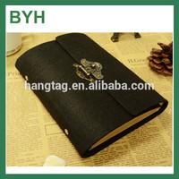Classical beautiful felt lock diary book design /Note book/code diary book