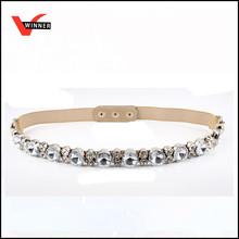 Thin fashion jewelry beaded belt