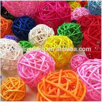 small decorative wicker woven rattan ball