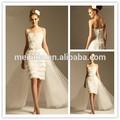 curto vestido de noiva strapless decote com babados oraganza vestido curto com um trem de comprimento