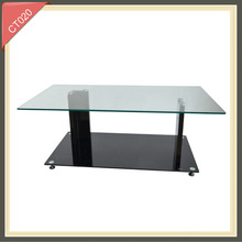 dolphins glass triangle exotic coffee table CT020