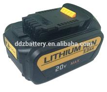 20V Dewalt Power tool battery 3000mAh with 119.60x76.12x51.60mm For DeWALT DCB200, DCB201 DCF895C2 DCS380L1 DCG412L2
