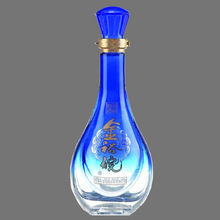 500ml beautiful design glass bottle wedding invitations