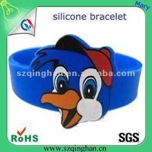 2012 fashion style Donald Duck silicone bracelet/wristband