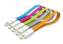 Colorful Flat Micro USB cable for HTC , Samsung , usb charger cable DHL shipping