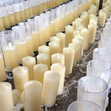bianco candele inodore pilastro della chiesa