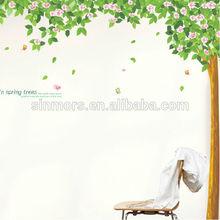 Bahar dekoratif aile ağacı/aile ağaç duvar sticker/ağaç vinil dekor çıkartmaları