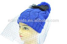 La nueva moda de lana sombreros de punto para la mujer diseño de la red de sombreros calientes
