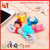 Promotional cable winder,pvc bobbin winder, plastic cord winder cute earphone cable winder pvc cable winder