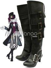 Black 3 12 Heel Kuroshitsuji UnderTaker Faux Leather Cosplay Shoes
