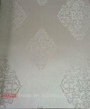 2012 modern home interior european embossed pattern luxury PVC wallpaper