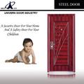 Residencial exterior puerta de acero, baratos puertas de hierro forjado, puerta de entrada principal de diseño