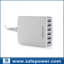 Poweradd! 50W 6-Port Family-Sized USB Desktop Charger for iPhones, iPads, iPods, Samsung Tab 2 3 4, Galaxy Series Phones, Smartp