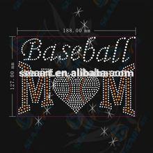 baseball mom design rhinestone motif