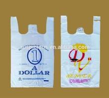 Pattern printed plastic t-shirt bags retail shopping bag