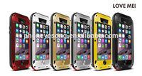 Love mei shockproof waterproof case for iphone 6