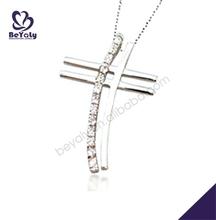 Ethnic silver cross design platinum necklaces for men