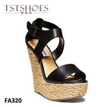 2014 fashion ladies girls high heel sandals summer fashion design wedge heel lady sandals lace up latest design wedge sandals