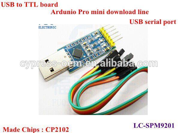 chip CP2102 USB to TTL board/UNO R3 Pro mini download line USB serial