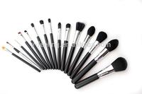 Professional 15 Pcs Black Makeup Brushes Set Brand Cosmetic Kits without bag