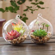 Unique Hanging Crystal Glass Flower Vases Air Plant Glass Terrarium For Wedding Centerpiece Decor