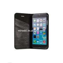 Credit card slots design Imitation sheepskin cover case for iphone 6 4.7 in black