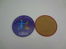 Hot Selling Durable Cork Tin Coaster Set In Metal Box