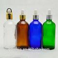 venta al por mayor envases de productos cosméticos 100ml para el aceite de oliva botella de vidrio cuentagotas