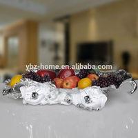 Big size pig shape ceramic fruit bowl home decor