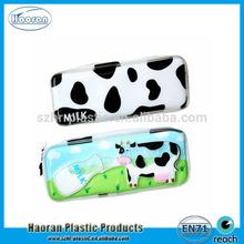 Beauty design PVC clear plastic cute pencil case