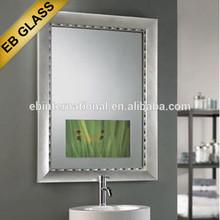 wall mounted tv mirror,mirror framed wall mirror , eb glass