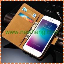 flip mobile phone Genuine leather Case For iphone 6 & 6 plus