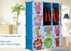 2014 Free Standing High Quality Best Selling Cartoon Door Baby Closet and Wardrobe