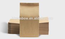 stand up brown aluminum foil kraft paper bags