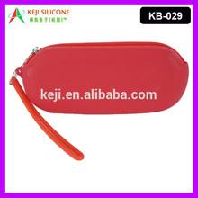Fashion Rubber Silicone School Zip Bag Silicone Glasses Pouch Bag