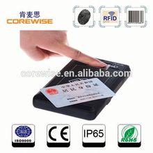 Handheld RFID smart card reader, large fingerprint sensor