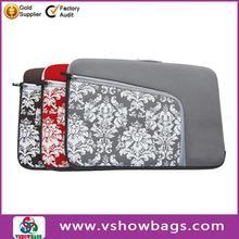 Promotion customized flower pattern neoprene laptop sleeve