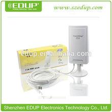 high power wireless outdoor usb adaptor 150mbps wireless internet transmitter 5000mw wifi usb wireless adapter driver free
