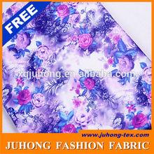 Impressão tecido flores para vestidos de casamento