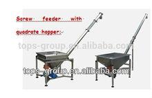 Alimentador de parafuso de aço inoxidável 304 quadrado hopper