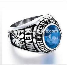Custom made stainless steel graduation class rings