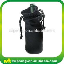 High quality drawstring velvet wine bottle bag
