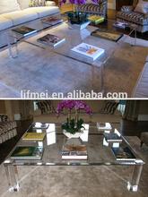 2014 customized acrylic free logo coffee table
