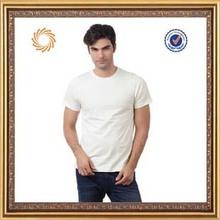 bulk white blank men's promotion t-shirt