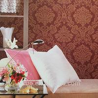 Sound-Absorbing deep embossed wallpaper/pvc wallcovering/modern classical wallpaper