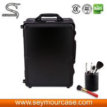 Trolley Makeup Artist Case Makeup Case With Lighted Mirror