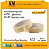 Yellow color 67D mid temp adhesive paper tape for masking