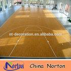 wooden look basketball court pvc vinyl flooring NTF-093